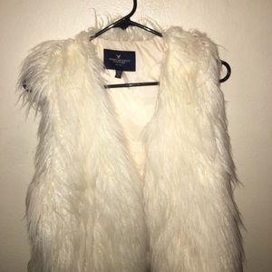 American Eagle Faux Fur Vest